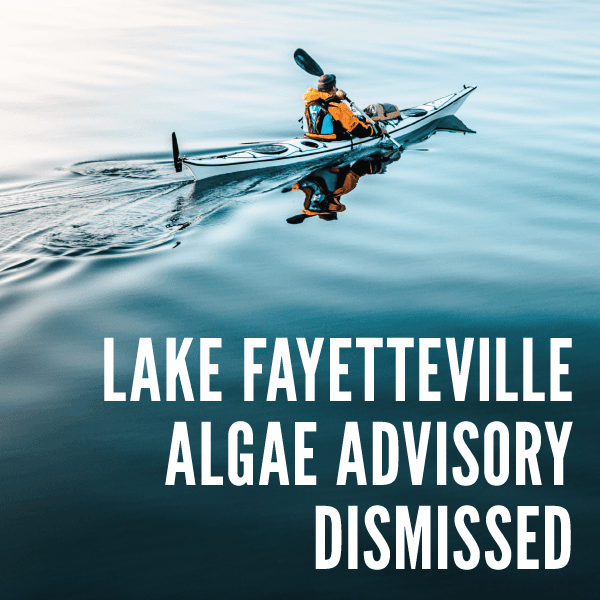Algae Advisory Dismissed for Lake Fayetteville
