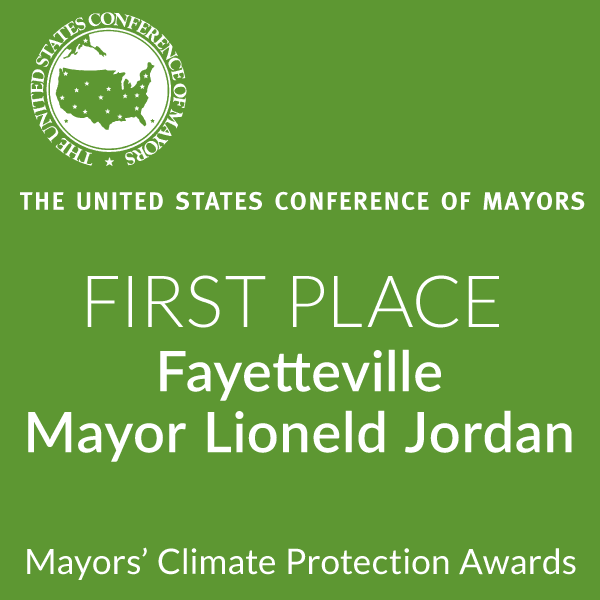 US Conference of Mayors First Place Award to Mayor Lioneld Jordan