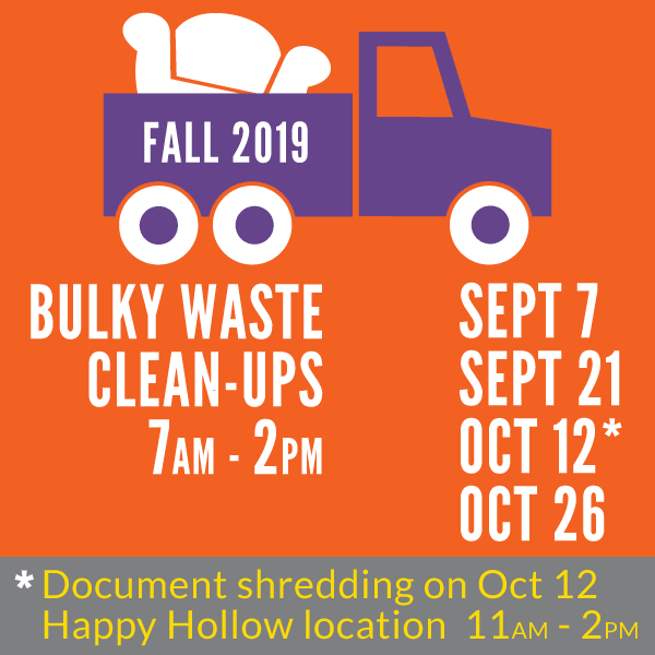 2019 Fall Bulky Waste Clean-Ups