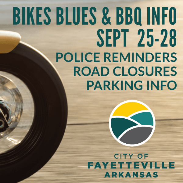 2019 Bike Blues and BBQ Information from City of Fayetteville