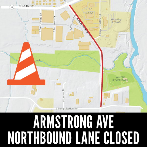Armstrong Ave Northbound Lane Closed