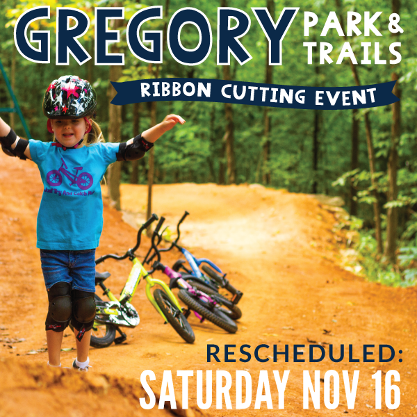 November 16 Ribbon Cutting for Gregory Park
