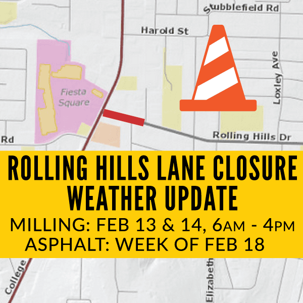 Rolling Hills Closure - Weather Update