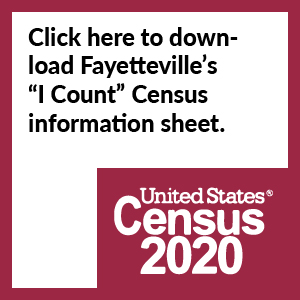 "CLick here to download Fayetteville's ""I Count"" census flier"