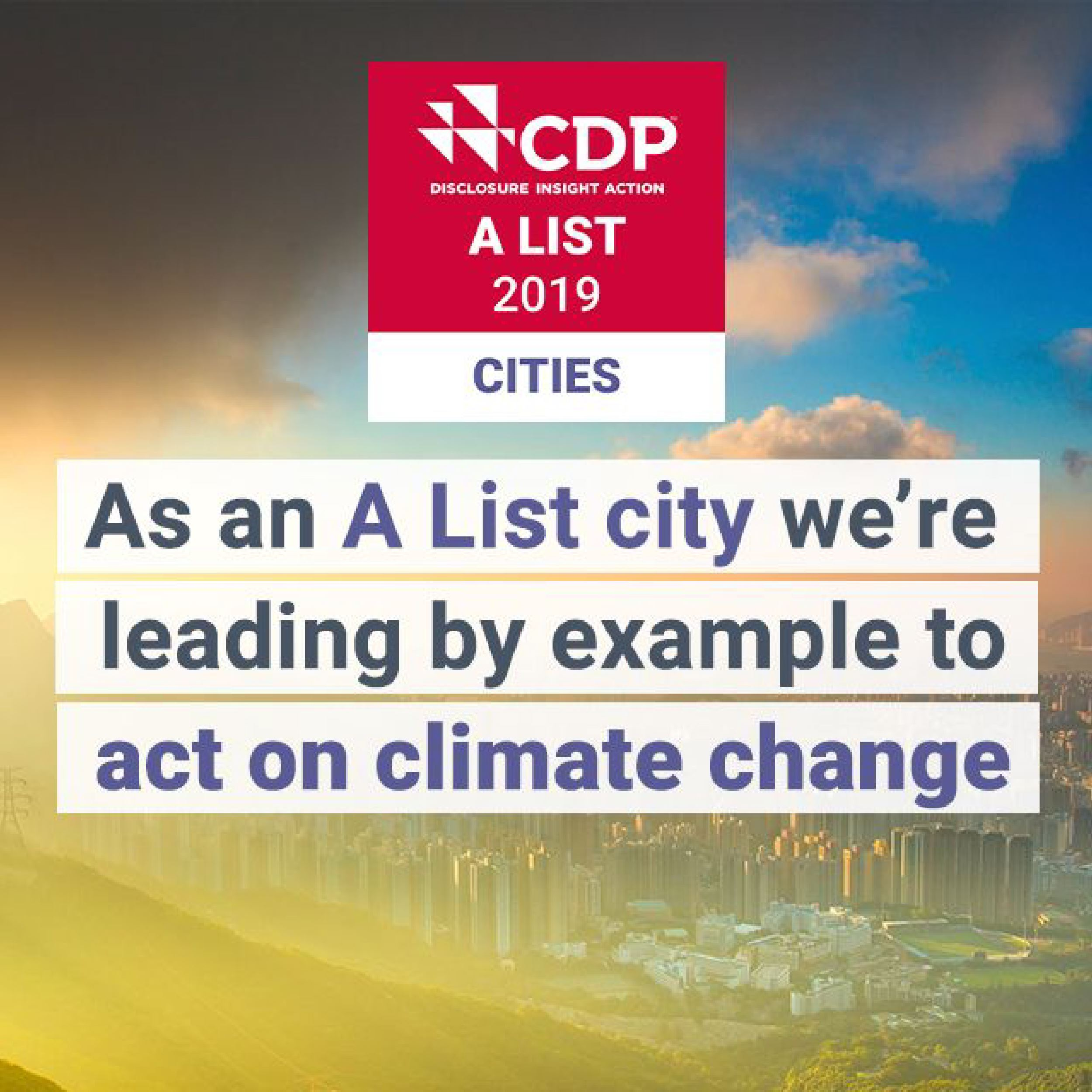 As a CDP A List city we're leading by example to act on climate change