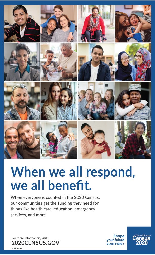 Downloadable poster about the benefits of responding to the census