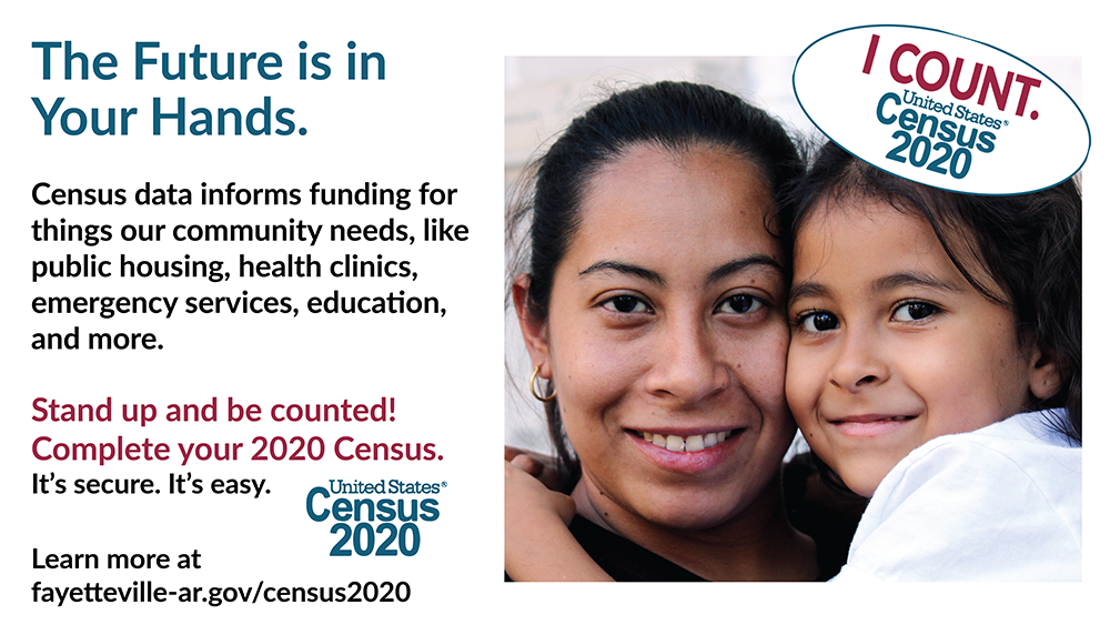 The future is in your hands: Stand up and Be Counted!  Census 2020