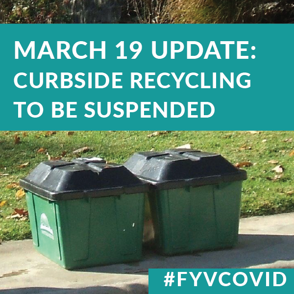 City to suspend curbside recycling in response to COVID-19