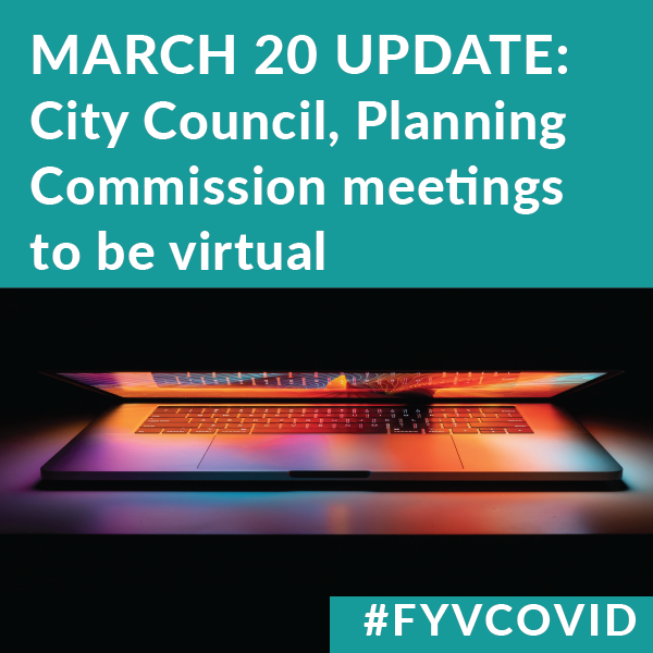City Council and Planning Commission to go VIrtual