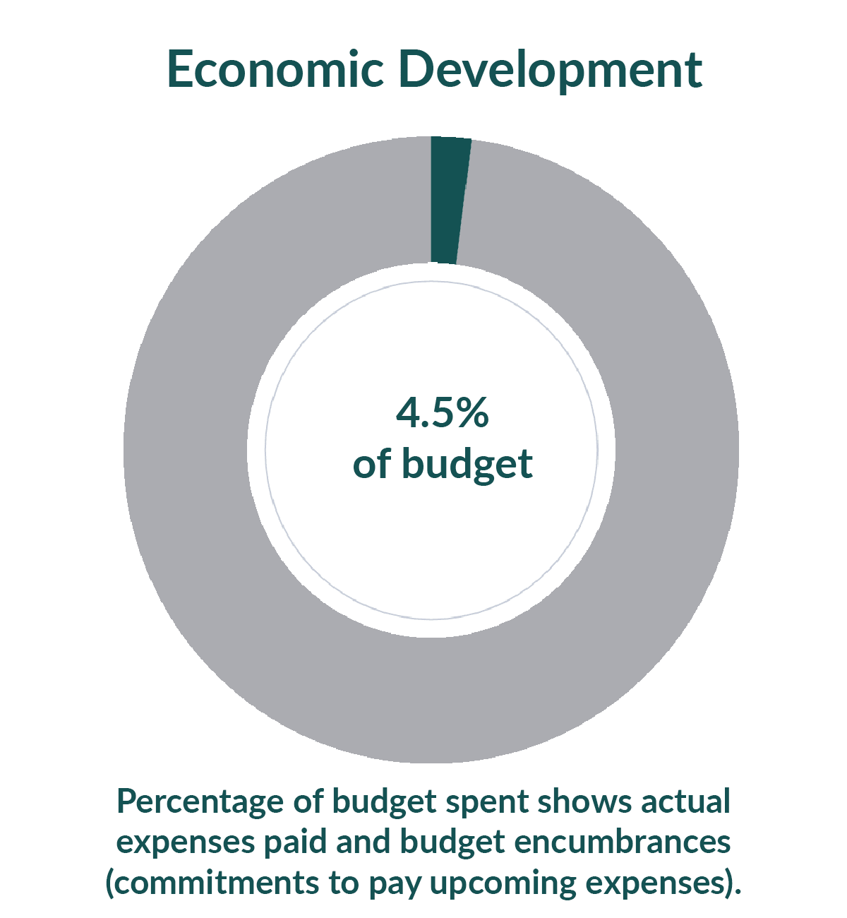 Economic Development: 0.7% of budget used as of July 1, 2020
