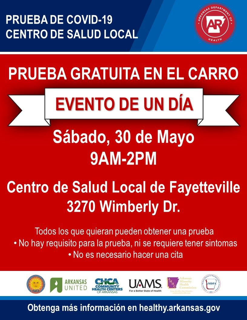 Fayetteville spanish free drive-through clinic information
