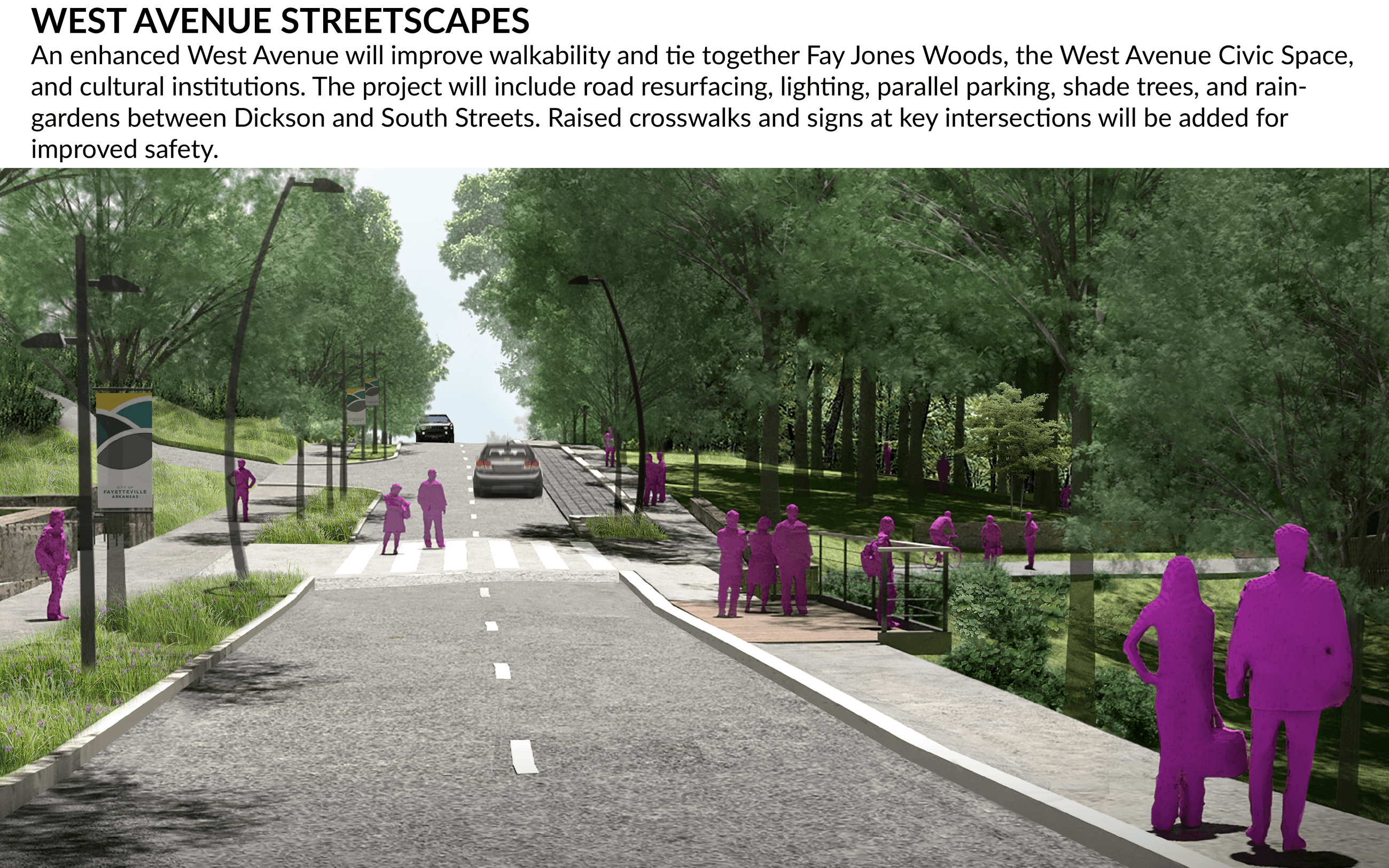 Artists rendering of West Avenue streetscapes
