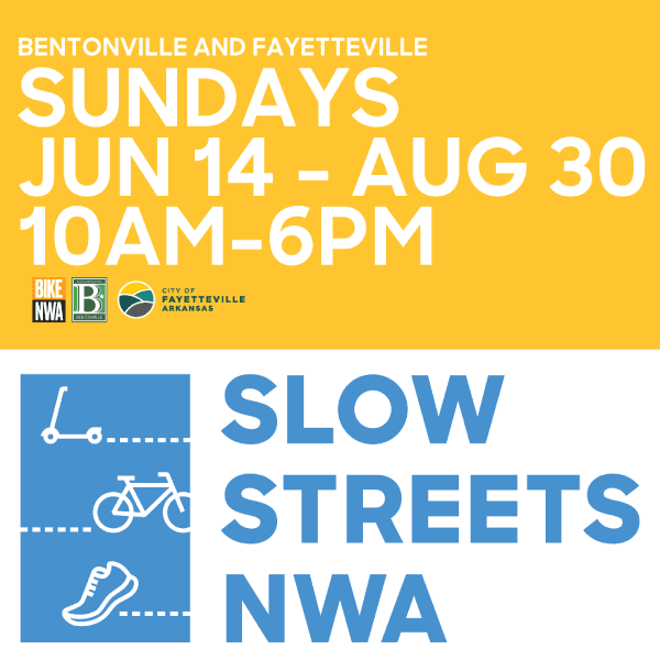 Sunday Slow Streets, June 14 - August 30