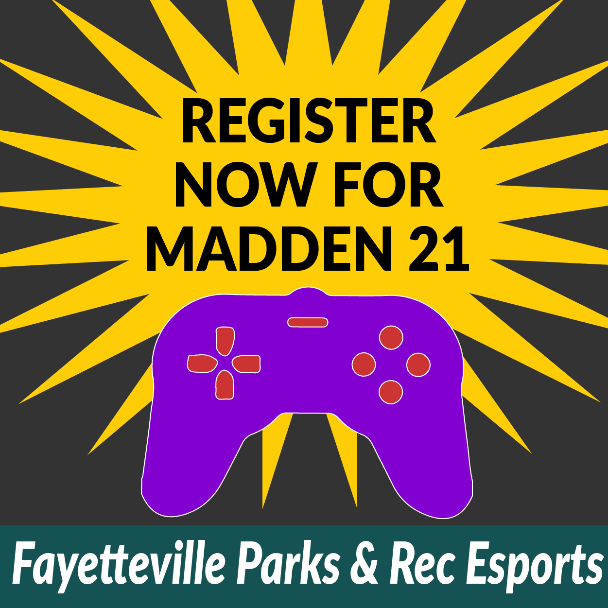 Register now for Madden 21 league