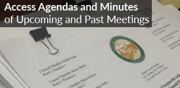 Access Agendas and Minutes of Upcoming & Past Meetings