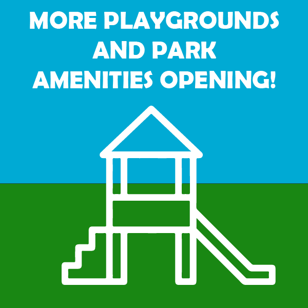 More playgrounds and amenities opening September 8