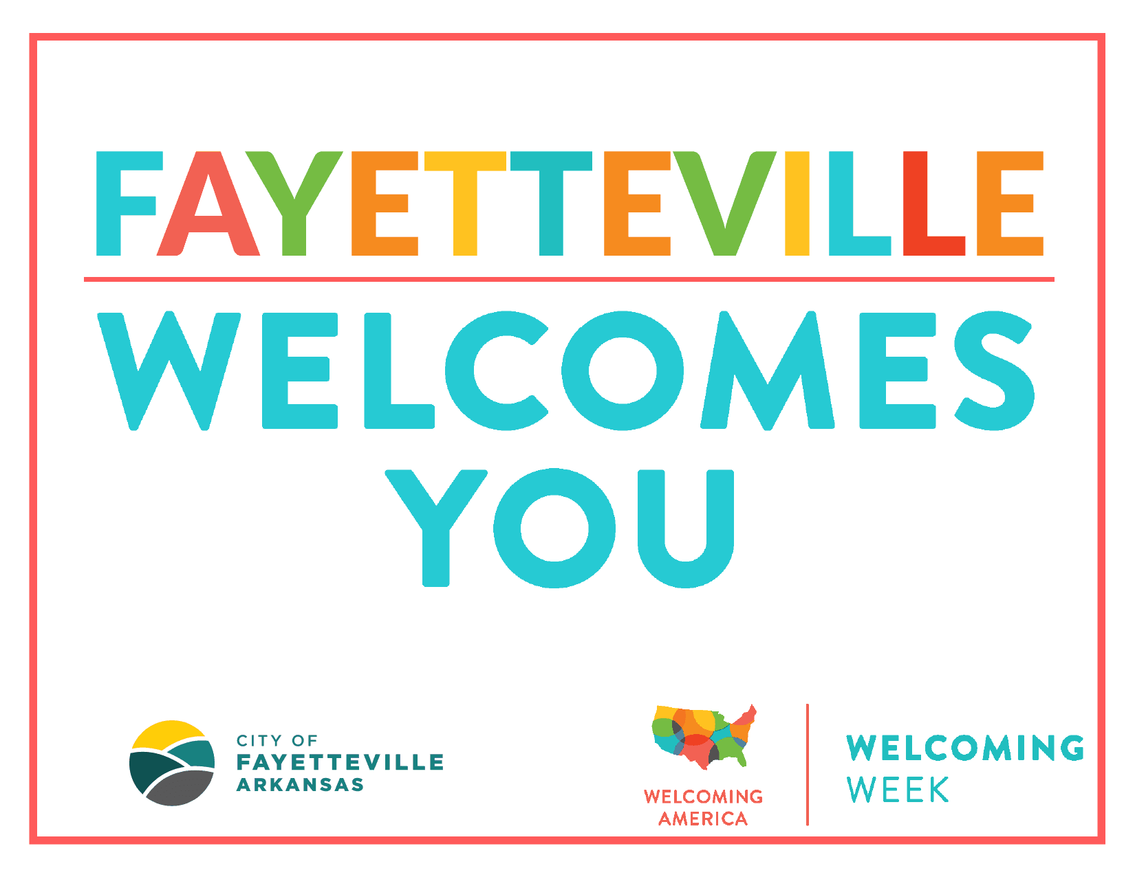 Fayetteville Welcomes You sign 2020-01
