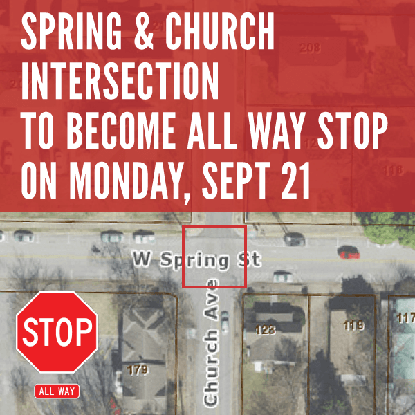 Intersection of Spring Street and Church Avenue to Become All Way Stop