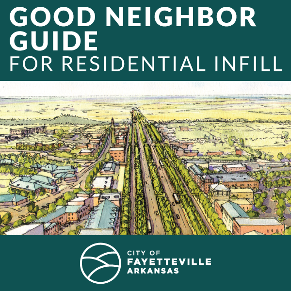 Image of the front cover of the Good-Neighbor Guide for Residential Infill