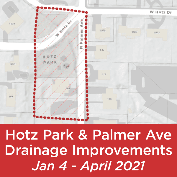 Hotz Park and Palmer Ave Drainage improvements beginning Jan. 4