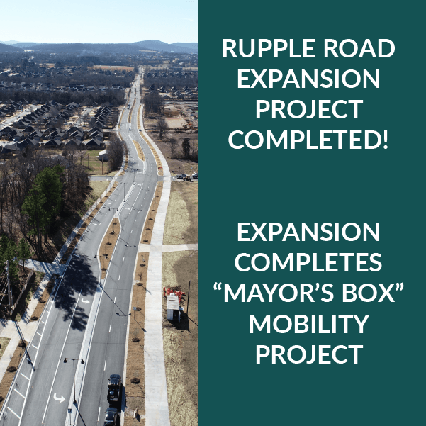 Rupple Road Expansion Project Completed