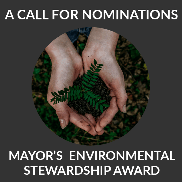 A Call for Nominations:  Mayor's Environmental Stewardship award