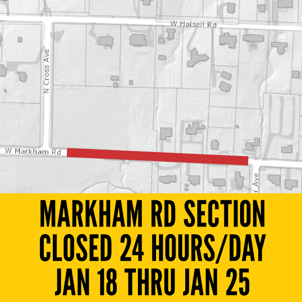 Markham Road Section Closed