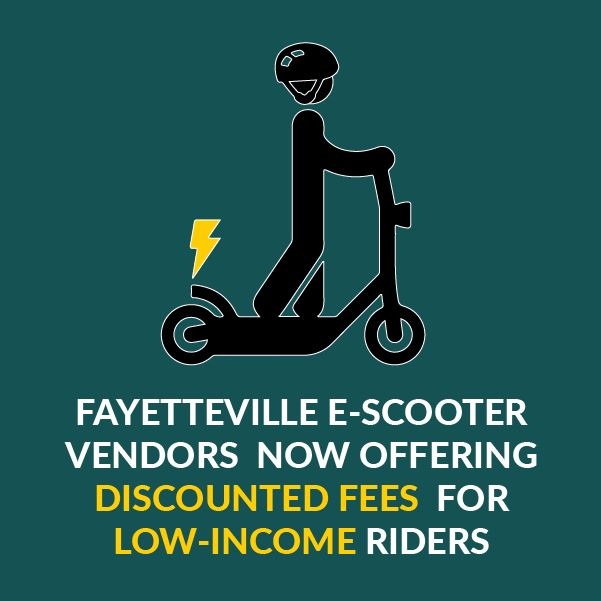 Fayetteville E-Scooters offering discounted fees for low-income riders
