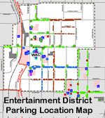 Map of Entertainment District parking locations