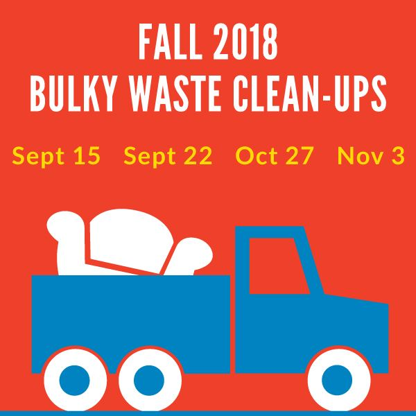 2018 Fall Bulkywaste Clean Up Events