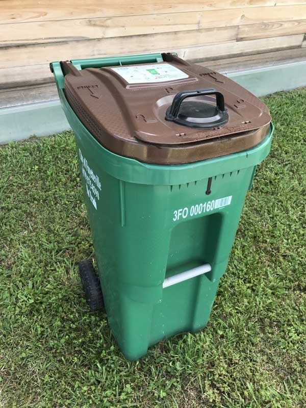 Image of food waste compost receptacle