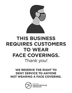 Face Covering Sign - English copy