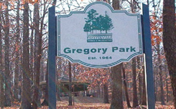 Gregory Park Sign