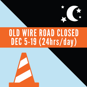 Old Wire Road Lane Closure
