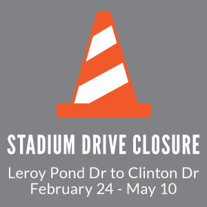Stadium Drive Closure
