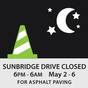 Sundbridge closed during night